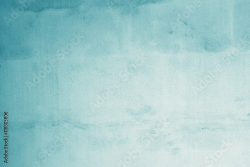 Leinwanddruck Bild Pastellfarben . helles Blau auf alter Wand - Hintergrund für Text und Bild