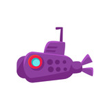 Purple Submarine Toy Boat