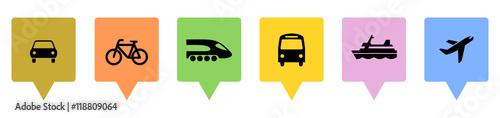 Tapeta Icons Mobilität