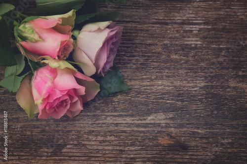 Zdjęcia na płótnie, fototapety, obrazy : bouquet of fresh roses