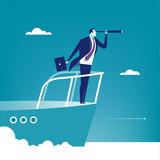 Captain. Businessman examines the space in front of his boat. Concept business illustration 37390887,DELETED 118367981,Hauselektrik,marcus_hofmann,203751537,1,276,0,0,architect