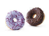 Fototapety Two donuts on a white background