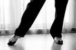 Dancing shoes feet of male ballroom, latin, salsa and swing danc