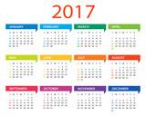 Fototapety 2017 calendar - Illustration