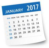 Fototapety January 2017 calendar leaf - Illustration