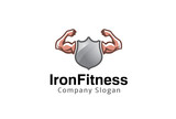 Iron Fitness Logo Design Illustration