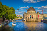 Fototapety Berlin Museum Island with TV tower at sunset, Berlin Mitte, Germany