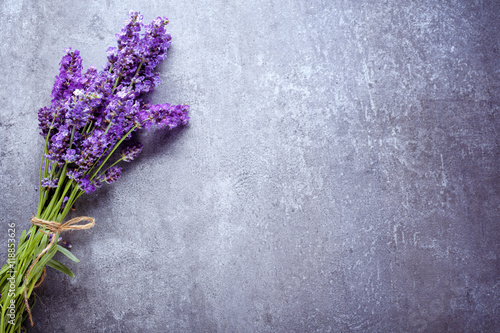 lavender on stone