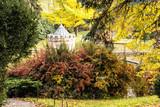 Turret in Bojnice, Slovak republic, autumn colorful park