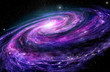 Spiral galaxy, 3D illustration of deep space object. - 118874087