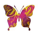 Butterfly ornamental tattoo