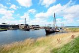Hafen von Roskilde mit Blick auf Wikinger Museum