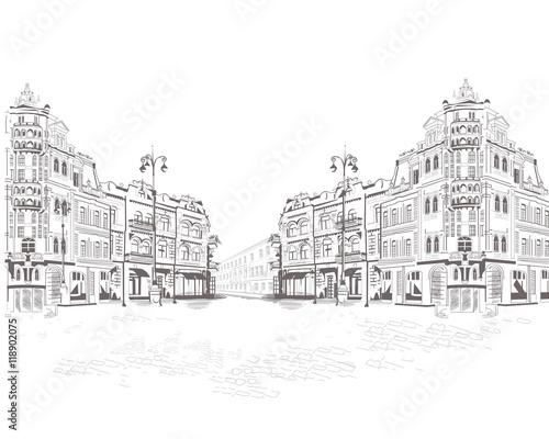 Fototapeta Series of street views in the old city.