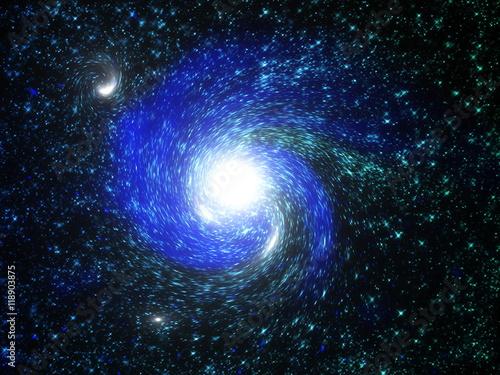 Foto op Canvas UFO Fantasy Galaxy Wallpaper