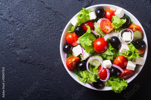 Photo of fresh greek salad