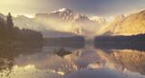 Fototapety mountain lake in the Italian Alps,retro colors, vintage