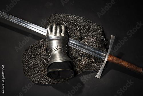 Aluminium Fyle Armor and sword