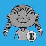 character school student icon vector illustration design