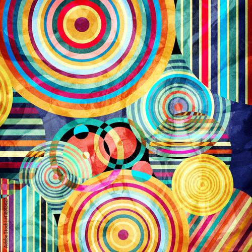 Fototapeta Watercolor abstract geometric background