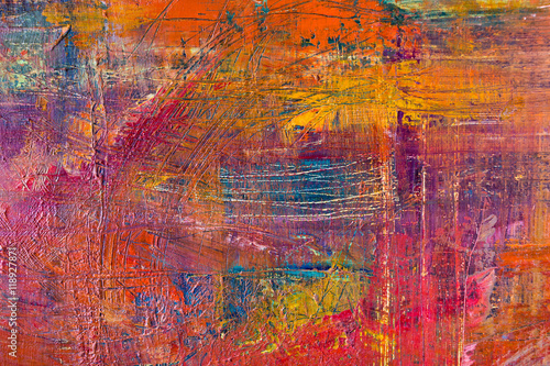 Painting Artistic Bright Color Oil Paints Texture Abstract Artwork Modern Futuristic Pattern For Grunge Wallpaper