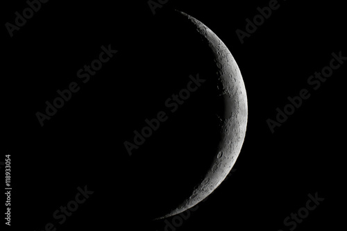 Moon waxing crescent Poster