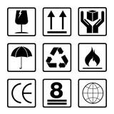 Fragile symbol set isolated on white background. Black fragile symbol. - 118954408