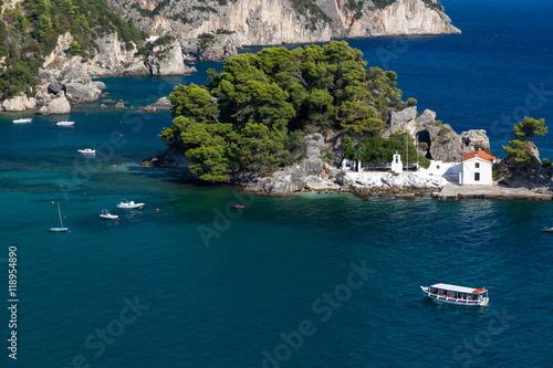 Zdjęcia na płótnie, fototapety, obrazy : Church on small island Parga Epirus, Greece