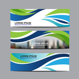 Collection  business banner set vector design background template. layout design for website. cover header horizontal
