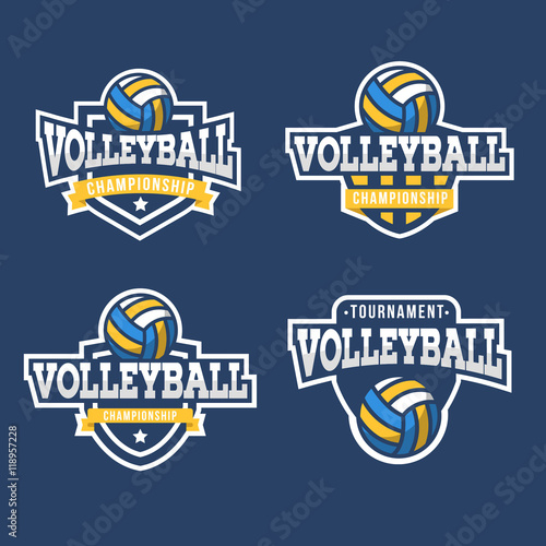Set of Sport Volleyball Logo. American style.