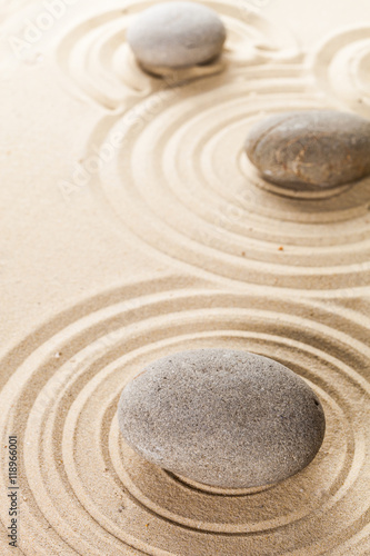 Staande foto Zen zen garden meditation stone background