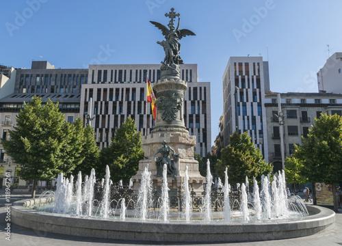 Fuente de la plaza de España de Zaragoza