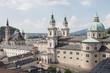Panorama Salzburga - widok na kościół