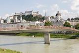 Panorama Salzburga - widok od strony rzeki