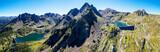 Valgerola - Valtellina (IT) - Vista aerea delle Dighe di Trona a sx e Inferno a dx con vista sulle alpi Orobie