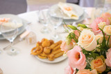 wedding table with flower