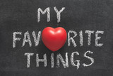 my favorite things heart