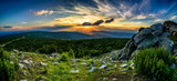 Fototapety Stuning mountains panorama in the evening, sunset  Karkonosze Mountains