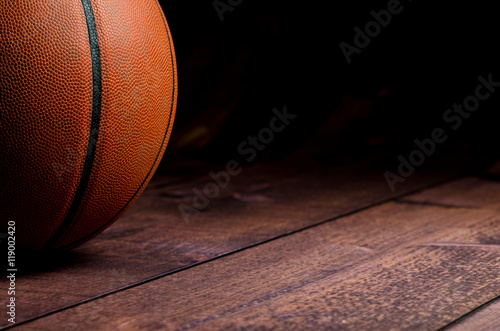Fotobehang Basketbal Basketball on court