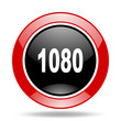 1080 red and black web glossy round icon