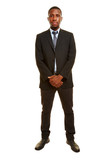 Seriöser afrikanischer Geschäftsmann
