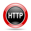 http red and black web glossy round icon