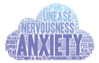 Detaily fotografie Anxiety Word Cloud