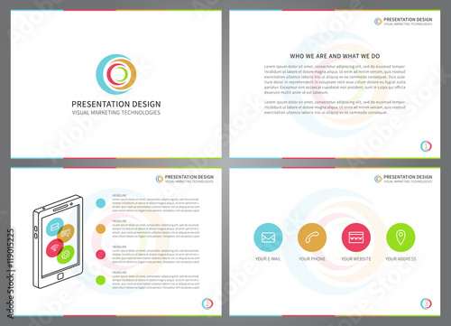 presentation vector layout for corporate documents report business