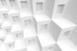 3d White Cubes Background