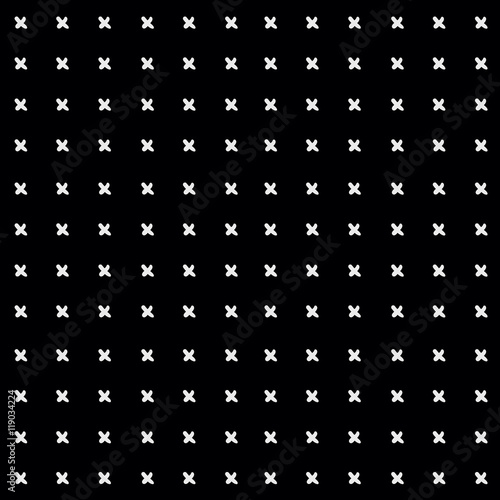 Minimal monochrome hand drawn pattern cross - 119034224