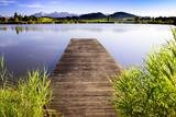 Bootsteg am See im Allgäu