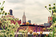 Cityscape view on midtown Manhattan from High Line Park
