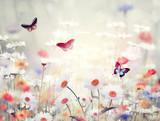 Naklejka wild flowers in a meadow