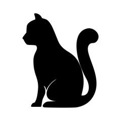 cat  animal feline mascot pet domestic silhouette vector illustration