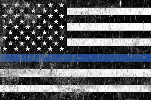 Law Enforcement Police Support Flag Poster